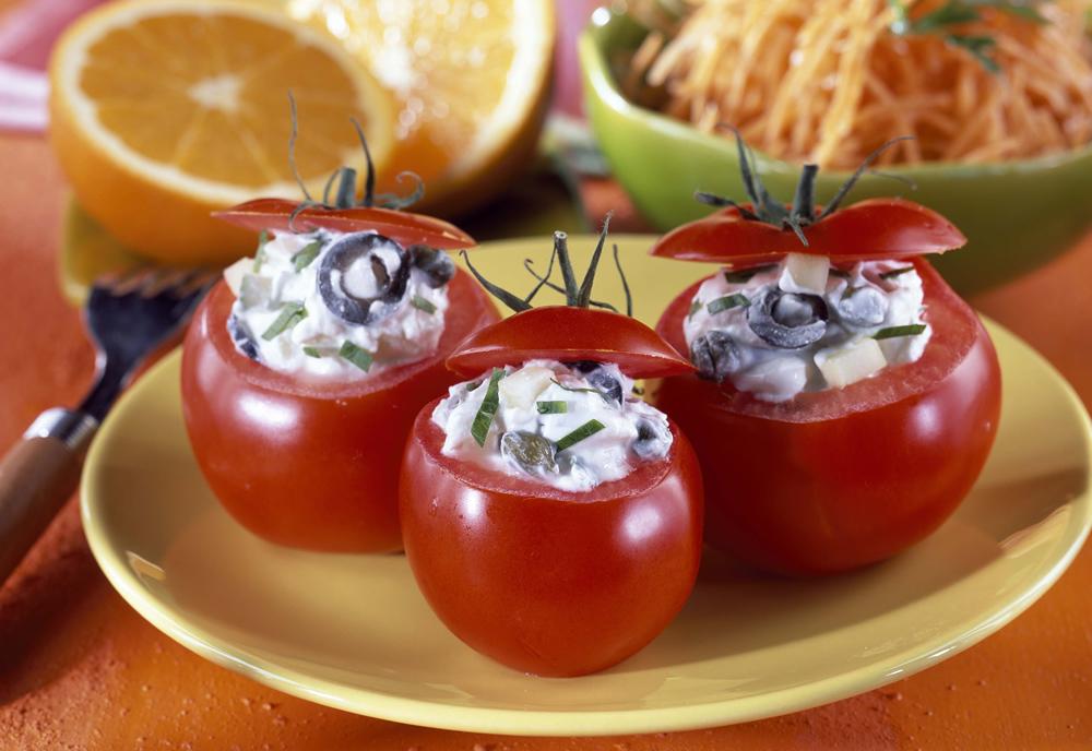 pomodori ripieni con formaggio di capra