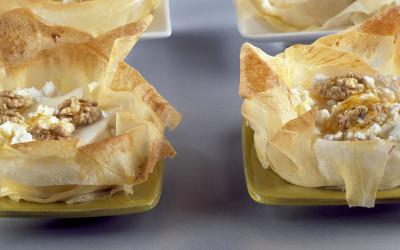 Cestini con formaggio di capra