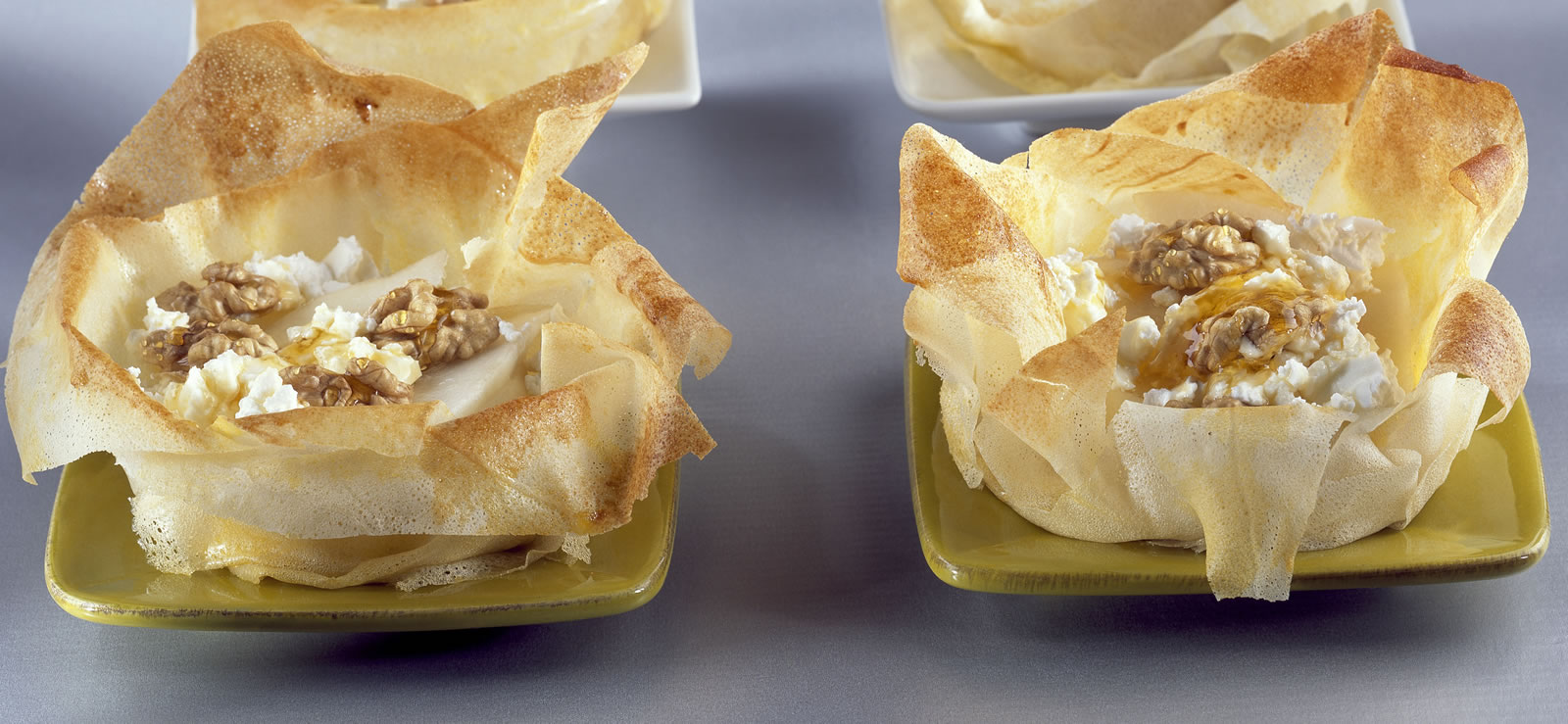 Cestini autunnali sorpresa ricetta con pere e foramggio
