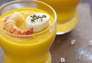 Ricetta per aperitivo con crema di zucca formaggio per aperitivo
