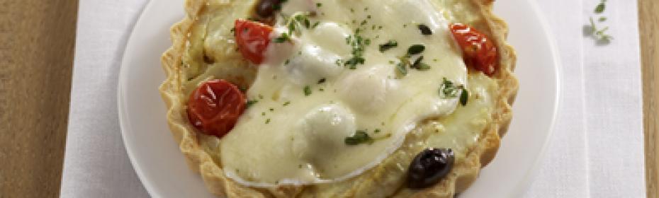 ricetta con formaggio a fette Quiche con formaggio a fette e carciofi
