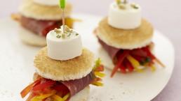 Ricetta per aperitivo con Club sandwich-formaggio per aperitivo