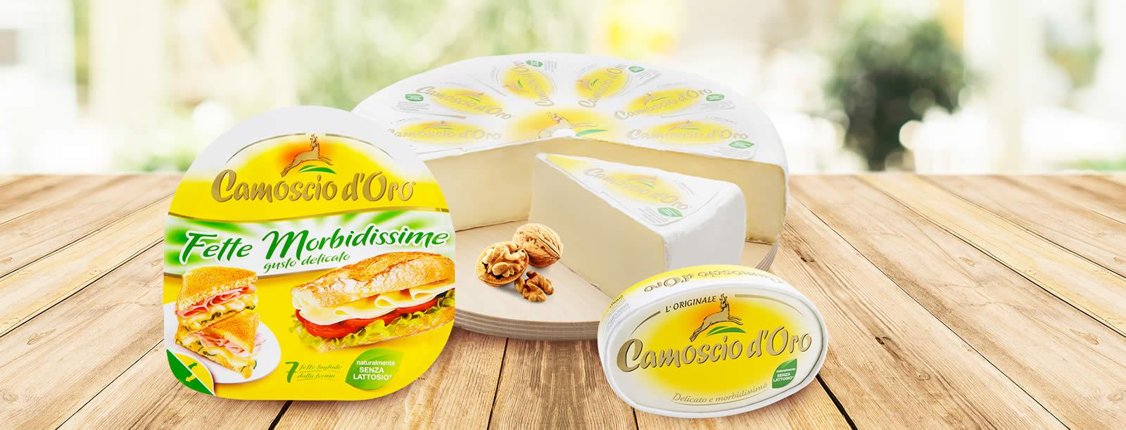 formaggio a fette fette morbidissime camoscio d oro ovale e forma