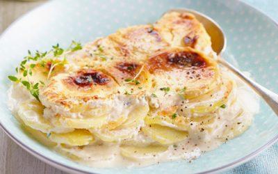 gratin dauphinois con formaggio di capra